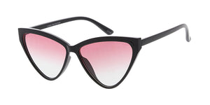 7531COL Women's Plastic Medium Thin Cat Eye Frame w/ Two Tone Lens