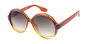 7555 Women's Plastic Large Round Crystal Ombre Frame