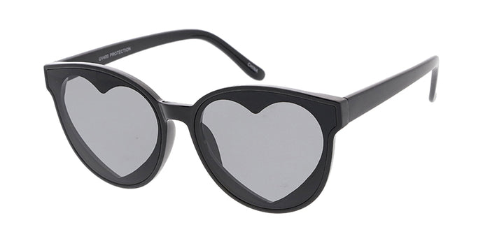7622HRT Women's Plastic Medium Round Hidden Heart Frame