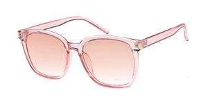 7632CRY/COL Women's Plastic Medium Thin Square Monochromatic Crystal Color Frame w/ Color Lens