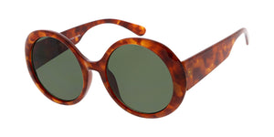 7681 Women's Plastic Large Vintage Inspired Round Frame