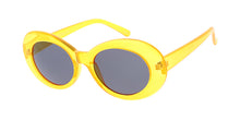 7787NEO Unisex Plastic '90s Retro Round Oval Crystal Neon Frame Clout Goggles
