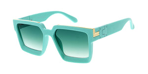 7891COL Unisex Plastic Large Square Pastel Color Frame w/ Color Lens