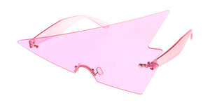 7952 Unisex Plastic Large Triangular Rimless Novelty Frame