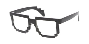 9203CLR Unisex Plastic Medium Pixel Novelty Frame w/ Clear Lens