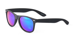 9480SFT/RV Unisex Plastic Classic Soft Rubberized Finish Black Frame WF w/ Color Mirror Lens