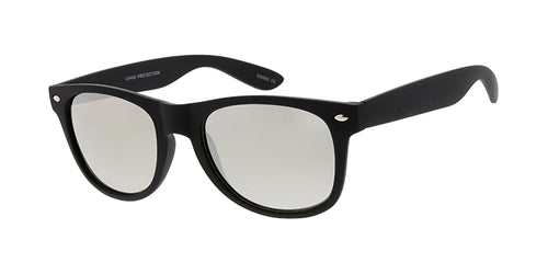 9518SFT/MIR Unisex Plastic Standard WF Rubberized Black Frame w/ Silver Mirror Lens (Single Color)
