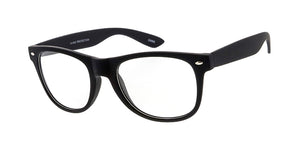 9519SFT/CLR Unisex Plastic Standard WF Rubberized Frame w/ Clear Lens (Single Color)