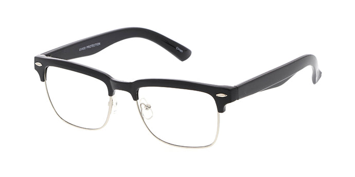 9669CLR Unisex Combo Medium Square Clubber w/ Clear Lens