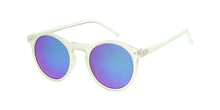 9728RV Unisex Plastic Round Hipster Thin Color Frame w/ Color Mirror Lens