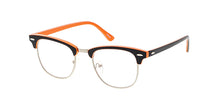 9829COL/CLR Unisex Classic Combo Clubber w/ Color Accent Frame and Clear Lens