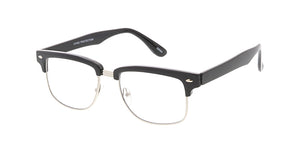 9831CLR Unisex Combo Small Square Clubbers w/ Clear Lens