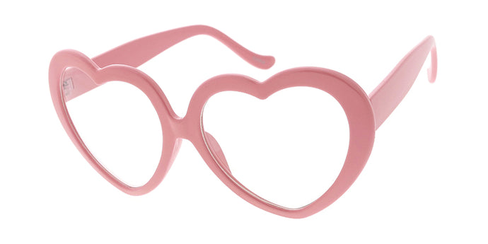 9997CLR Women's Plastic Large Heart Frame w/ Clear Lens