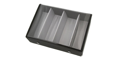 [4-PACK] HT-8023CLR 4-piece Personal Display Tray w/ Clear Cover