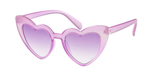 K6632CRY Kids' Plastic Heart Shaped Monochromatic Crystal Color Frame w/ Color Lens