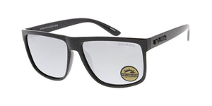 KU-POL013RV KUSH Plastic Medium Rectangular Flat Top Frame w/ Polarized Color Mirror Lens