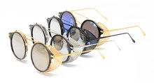 4158RV Unisex Combo Swivel Side Cover Steampunk Frame w/ Color Mirror Lens