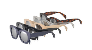6561MIR Women's Plastic Chunky Frame w/ Silver Mirror Lens