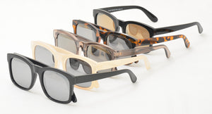 6664MIR Women's Plastic Medium Square Frame w/ Gold and Silver Mirror Lens