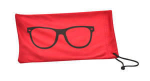 P2011-RED Red Microfiber Pouch w/ Sunglass Print