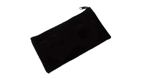 P2015-BLK Black Zipper Pouch