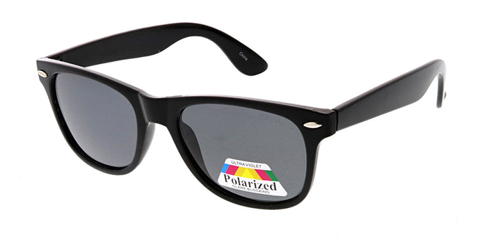 SPPOLF1002 Unisex Classic WF Shiny Black Frame w/ Polarized Lens (Single Color)