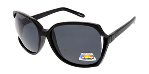 POLF1014 Women's Plastic Oversize Cut Out Frame w/ Polarized Lens