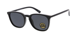 POLF1022 Unisex Plastic Medium Rounded Rectangular Hipster Frame w/ Polarized Lens