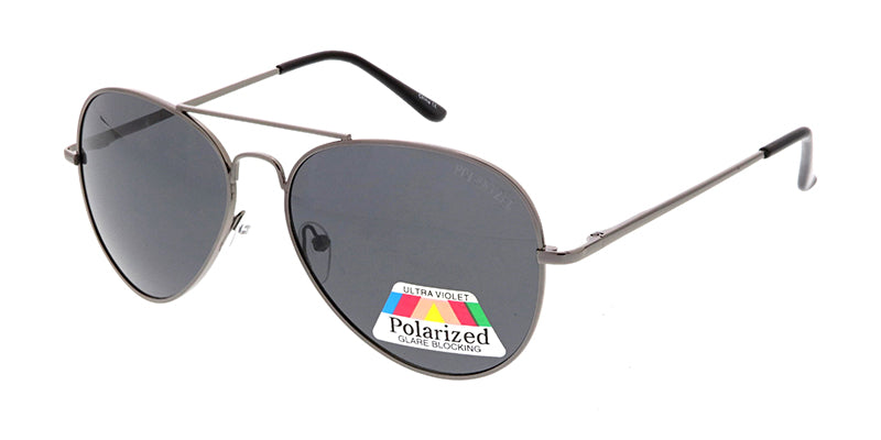 POLM3007 Unisex Metal Aviator w/ Polarized Lens