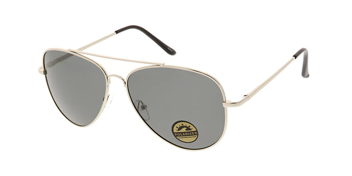 POLM3009 Unisex Metal Large Aviator w/ Polarized Lens