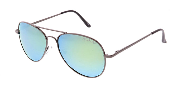POLM3010RV Unisex Metal Aviator w/ Polarized Color Mirror Lens