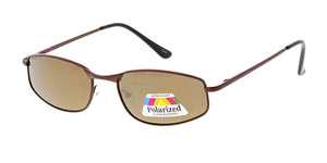 POLM3011RV Men's Casual Metal Frame w/ Polarized Color Mirror Lens