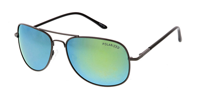 POLM3013RV Men's Casual Metal Frame w/ Color Mirror Polarized Lens