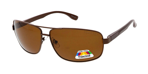 POLM3014 Men's Casual Metal Frame and Aluminum Temples w/ Polarized Lens