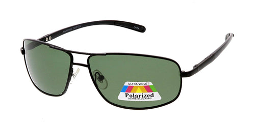POLM3016AL Men's Casual Metal Frame and Aluminum Temples w/ Polarized Lens
