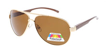 POLM3017AL Men's Casual Metal Frame and Aluminum Temples w/ Polarized Lens