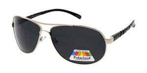 POLM3019AL Men's Casual Metal Frame and Aluminum Temples w/ Polarized Lens