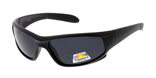 POLS2003 Men's Plastic Sport Wrap w/ Polarized Lens