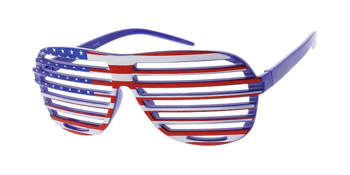 PT635 Novelty American Flag USA Print Shutter Shades