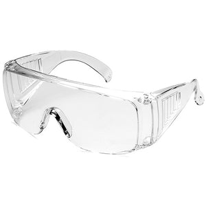 [12-PACK] SG001 Vented Reusable Fit Over Safety Glasses w/ Anti-Fog Coating