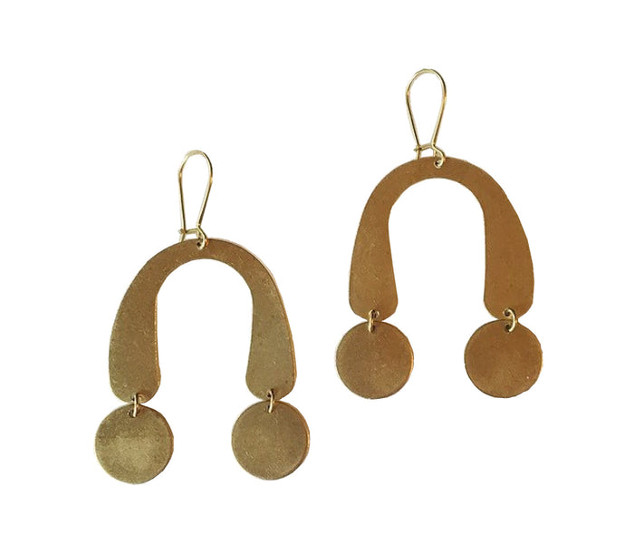 Balance All Brass Earrings