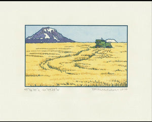 Wheat Harvest Letterpress Print