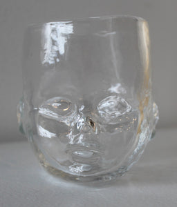Glass Baby Head Cup