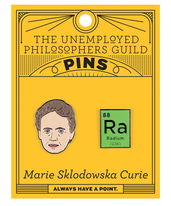 Marie Curie & Radium Pin Set