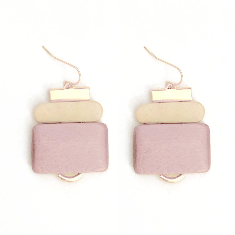 Pink Fir Earrings