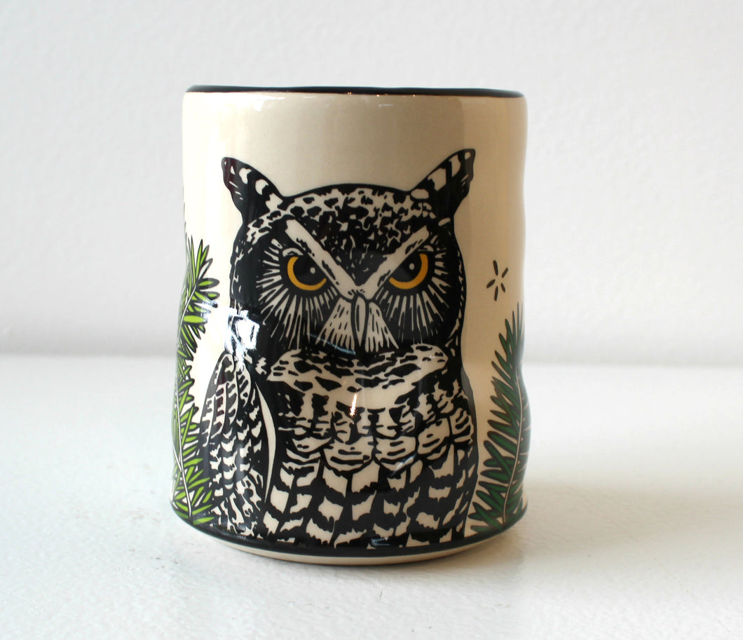 Lucky Great Horned Owl Cup