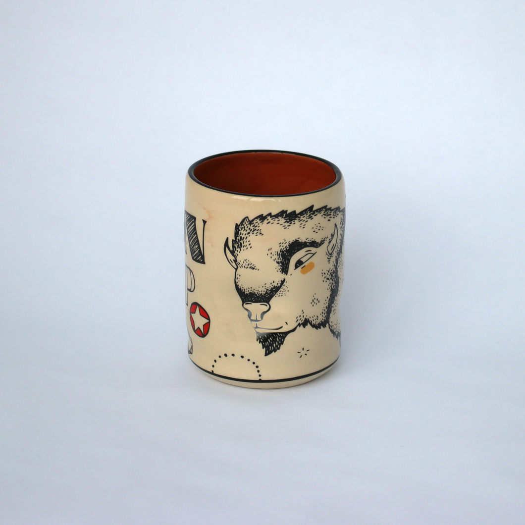 Lucky Bison Ceramic Cup