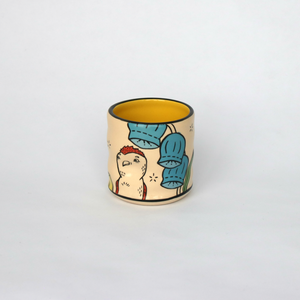 Lucky Chicken Ceramic Cup