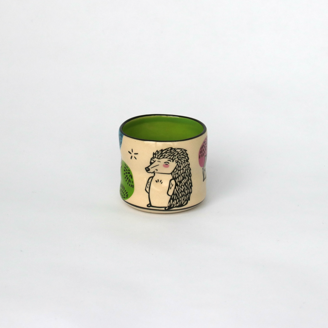 Lucky Hedgehog Ceramic Cup