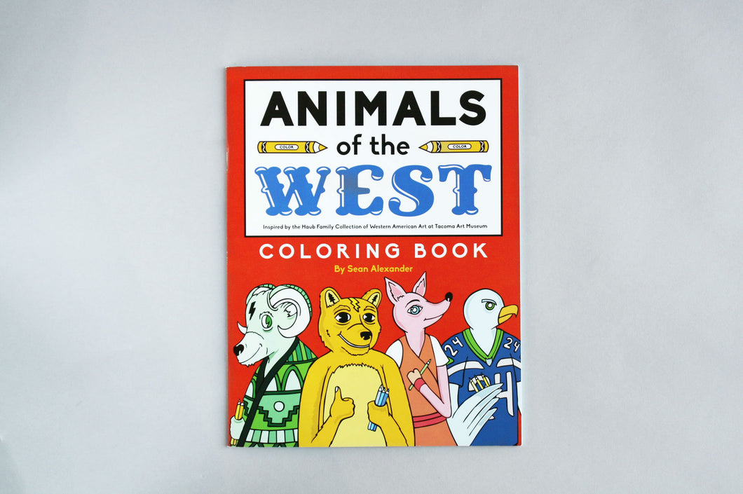 Animals of the West Coloring Book